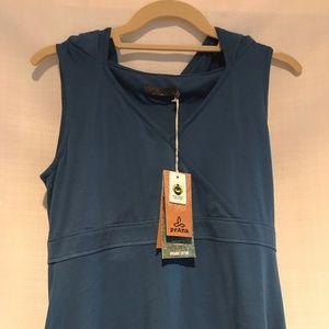 Prana hooded sleeveless dress size M NWT